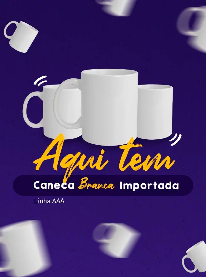Banner Mobile Aqui Tem Caneca Branca Importada