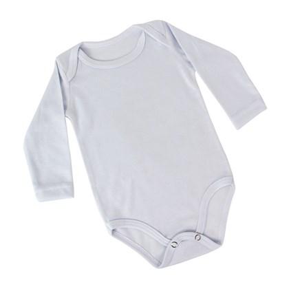 Body Baby Branco Com Elastano Manga Longa