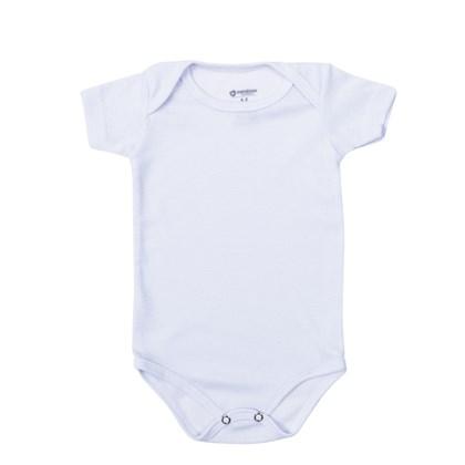 Body Baby Branco Manga Curta
