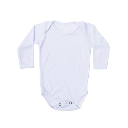 Body Baby Branco Manga Longa