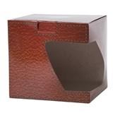 Caixa De Presente Para Caneca - Estampa Couro (c/ 6 pc)