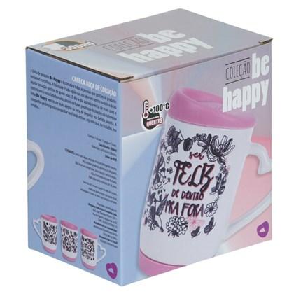 Caixa P/caneca Be Happy (Com 6 unidades)