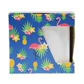 Caixa P/caneca C/recorte Lateral Flamingos (c/ 6 pc)