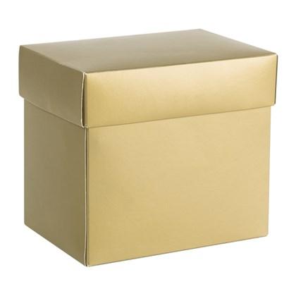 Caixa Para Canecas Metalizada Dourada (c/ 6 pc)