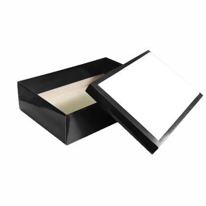Caixa Preta C/tampa Branca Sublimável (c/ 5 pc)