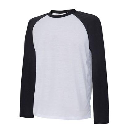 Camisa De Manga Longa Raglan Masculina Adulta EG