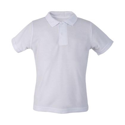 Camisa Polo Infantil Poliéster Branca