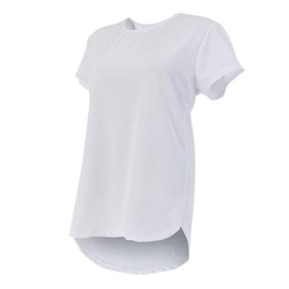 Camiseta Branca para Sublimação Fitness Feminina