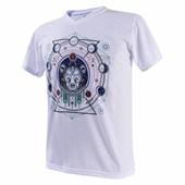 Camiseta Gola V Branca Poliéster Para Sublimação - P
