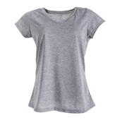 Camiseta Gola V Feminina Mescla Gg