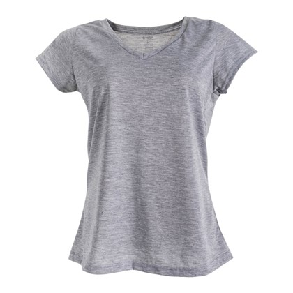 f48ce1d15e89f Camiseta Gola V Feminina Mescla M - LojaMetalnox