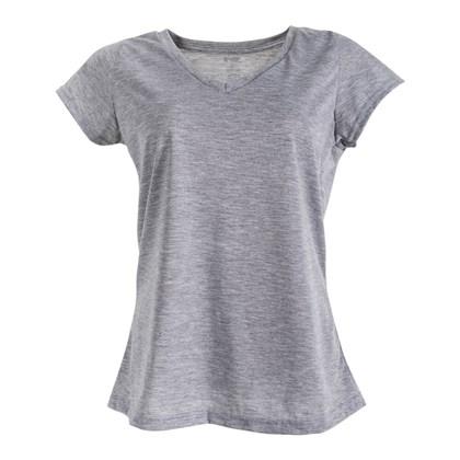 Camiseta Gola V Mescla  Adulto Poliéster para Sublimação (Com 5 unidades)