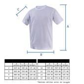 Camiseta Infantil Poliéster Branca Para Sublimação (Com 5 unidades)