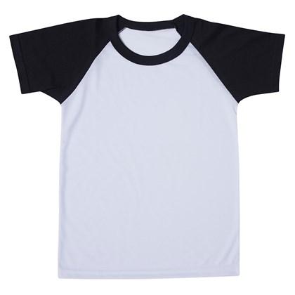 Camiseta Raglan Infantil Branca com Manga Preta