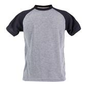 Camiseta Raglan Mescla Adulto em Poliéster (Com 5 unidades)