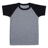Camiseta Raglan Mescla Infantil Poliester 16