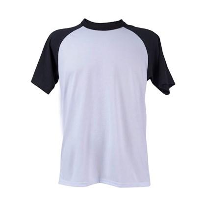 Camiseta Raglan Poliéster Branca Eg