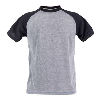 Camiseta Raglan Poliéster Mescla