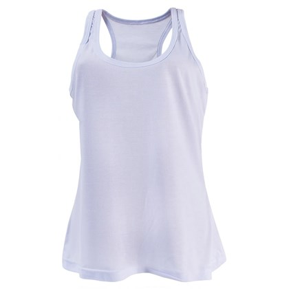 Camiseta Regata Nadador Poliéster Branca