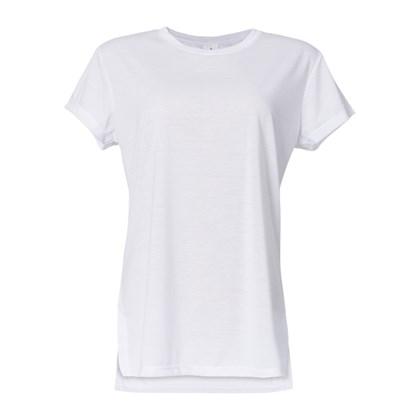 Camiseta T-shirt Feminina Adulto Branca Poliéster (Com 5 unidades)