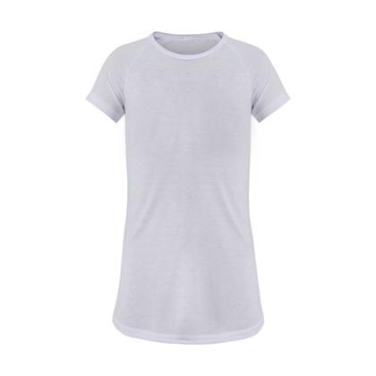 Camisola Para Sublimação de Poliéster Infantil Branca 16