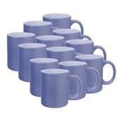 Caneca Cerâmica Azul Candy Fosca 300ml (Com 12 unidades)