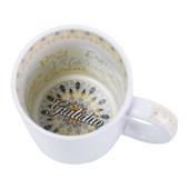 Caneca Cerâmica Com Interior Gratidão 325ml