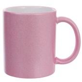 Caneca Cerâmica Glitter Rosa Especial 300 ml (Com 6 unidades)