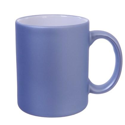 Caneca Cerâmica para Sublimação Azul Candy Fosca 300ml (Com 6 unidades)