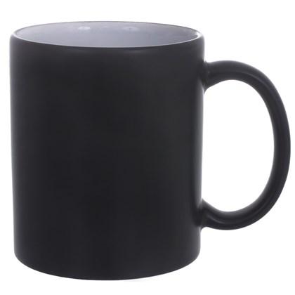 Caneca Ceramica Preta Fosca 325ml (Com 12 unidades)