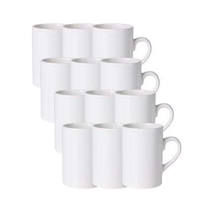 Caneca Cerâmica Slim Branca 275ml (Com 6 unidades)