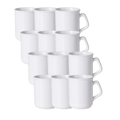 Caneca Ceramica Sparta Branca 260ml (Com 6 unidades)