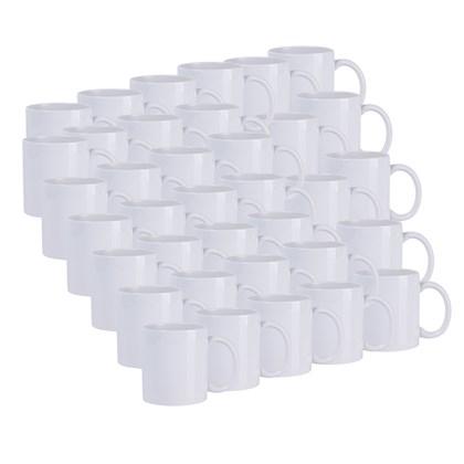 Caneca De Cerâmica Branca 325ml Aaa  (Com 36 unidades)