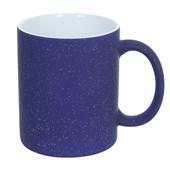 Caneca de Cerâmica Mágica  Azul Com Glitter 325ml (Com 6 unidades)