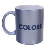 Caneca de Cerâmica para Sublimação Azul Candy com Brilho 300ml (Com 6 unidades)