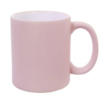 Caneca de Cerâmica para Sublimação Rosa Candy Fosca 300ml (Com 6 unidades)