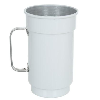Caneca De Chopp De Alumínio - Branca (Com 6 unidades)