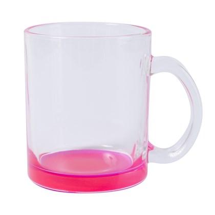 Caneca Para Sublimação De Vidro Incolor - Cor Rosa (minímo 6 pç)