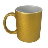 Caneca Para Sublimação Glitter Dourada 325ml (c/ 6 pc)