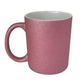 Caneca Para Sublimação Glitter Rosa 325ml