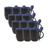 Caneca Para Sublimação Mágica Com Colher Azul (Com 6 unidades)