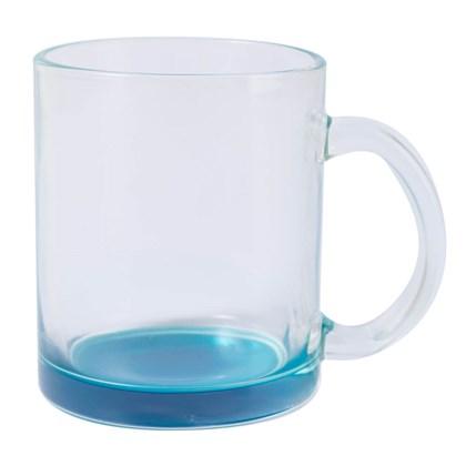 Caneca Vidro Incolor - Cor Azul