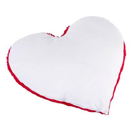 Capa De Almofada com Fibra Para Sublimação - Pelúcia De Coração (Com 6 unidades)