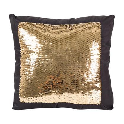 Capa De Almofada Para Sublimação Preta Com Lantejoulas Prata / Dourada