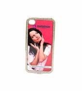 Capa Iphone 4 Plástico com Brilhantes