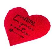 Capa Para Almofada Pelúcia De Coração