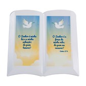 Cerâmica Decorativa Formato Livro Com Relevo 19x20cm