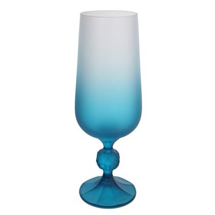 Copo Taça De Cerveja Decorada Para Sublimação Azul 280ml (Com 6 unidades)