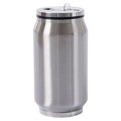 Copo Termico Metal Prata Com Tampa - 300ml