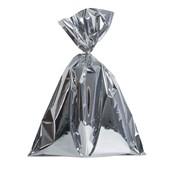 Embalagem Saco Metalizado Prata 25x37cm (c/ 100 pc)